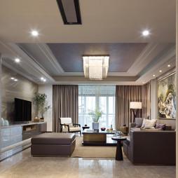 宽敞的现代风格豪宅过道设计