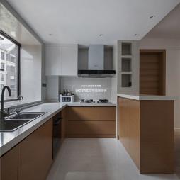 开放式的简约风格厨房设计