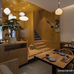 日式料理楼梯处设计