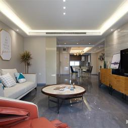 龙湖源筑简约风格客厅设计