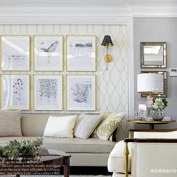 三居美式客厅装修设计图