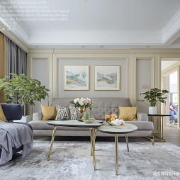 美式三居浅色客厅设计