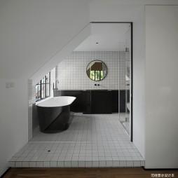 现代别墅主卫设计实景