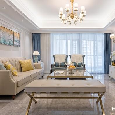 美式四居客厅吊灯设计