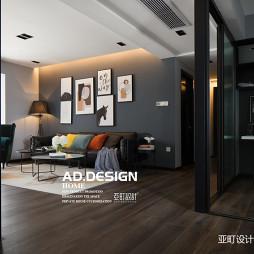 纯色现代客厅设计