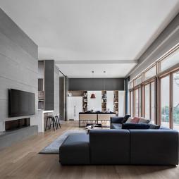 北欧别墅一层客厅设计