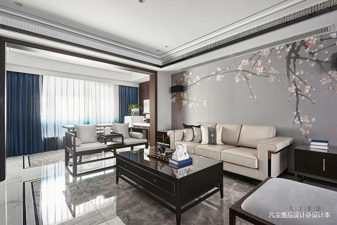 中式复式客厅设计实景图