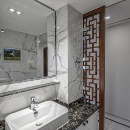中式豪宅洗手台设计