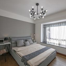 中式豪宅卧室飘窗设计