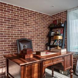 经典美式书房设计实景图