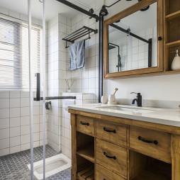 简洁混搭卫浴洗手台设计