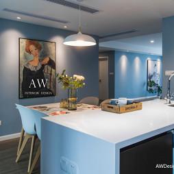 蓝色系餐厅设计