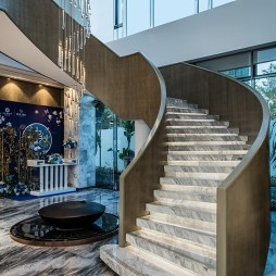 样板房展示空间楼梯设计