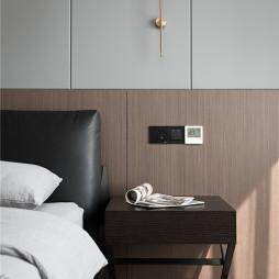 现代四居卧室壁灯设计实景