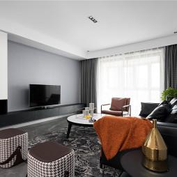 现代黑白客厅设计图