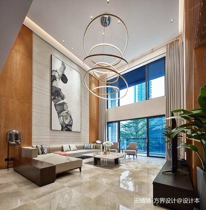 新中式素雅客厅吊灯设计