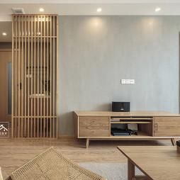暖暖日式客廳電視墻設計