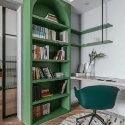 混搭二室卧室书柜设计