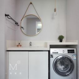 130m² 现代洗手台设计图