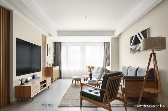 140m² 日式风客厅设计图片