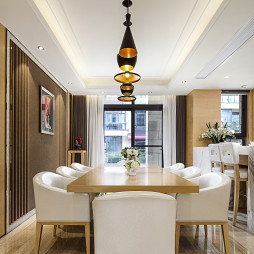 现代样板房别墅餐厅设计