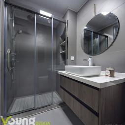 灰色系现代卫浴设计