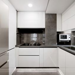浅灰现代厨房设计图