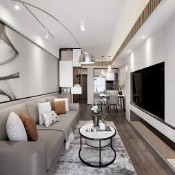 浅灰现代客厅设计图片