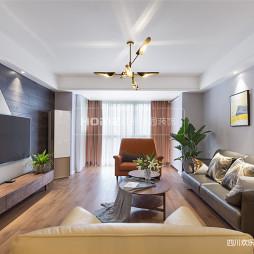 现代三居客厅实景