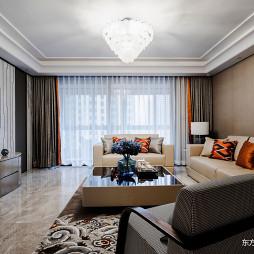 低奢大平层客厅吊灯设计图