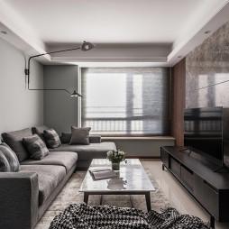 现代二居客厅实景