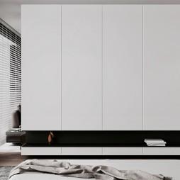 黑白现代卧室设计图