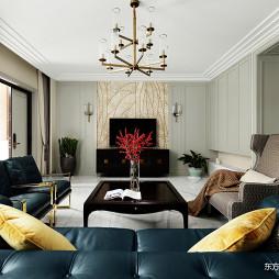 现代美式415平客厅吊灯设计