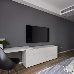 L宅现代卧室背景墙设计图