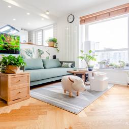 80㎡二层单身公寓客厅设计图
