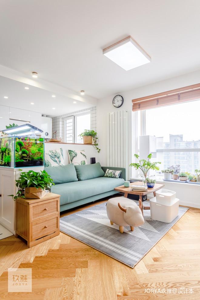 80㎡二层单身公寓客厅设计图片
