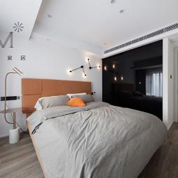 100㎡现代简约卧室设计图