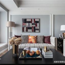 温馨美式客厅设计实景图片