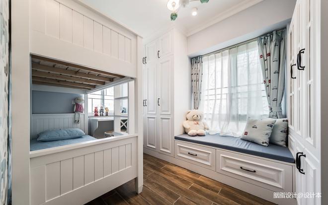 净秋空美式儿童房设计实景图片