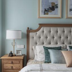 浅蓝系美式卧室床头灯图