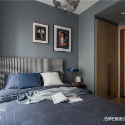 深灰蓝卧室设计