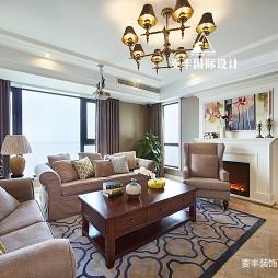 锦绣年华美式客厅吊灯实景