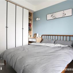 淡蓝北欧风卧室衣柜设计图
