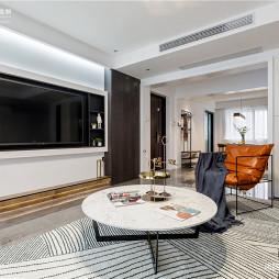 黑白调现代客厅背景墙设计