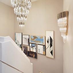 现代样板房楼梯吊灯设计图