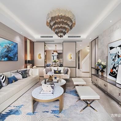 现代样板房客厅修饰画图片