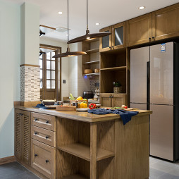 木质混搭风厨房设计图片