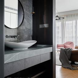 现代北欧卫浴洗手台图片