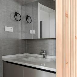 现代轻工业风卫浴洗手台图