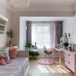 粉色浪漫北欧风儿童房设计图片